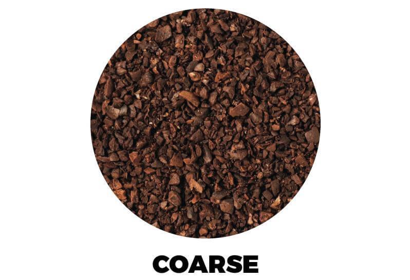 Coarse coffee grind